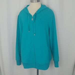 Christine Alexander teal sweatshirt (size 1X)
